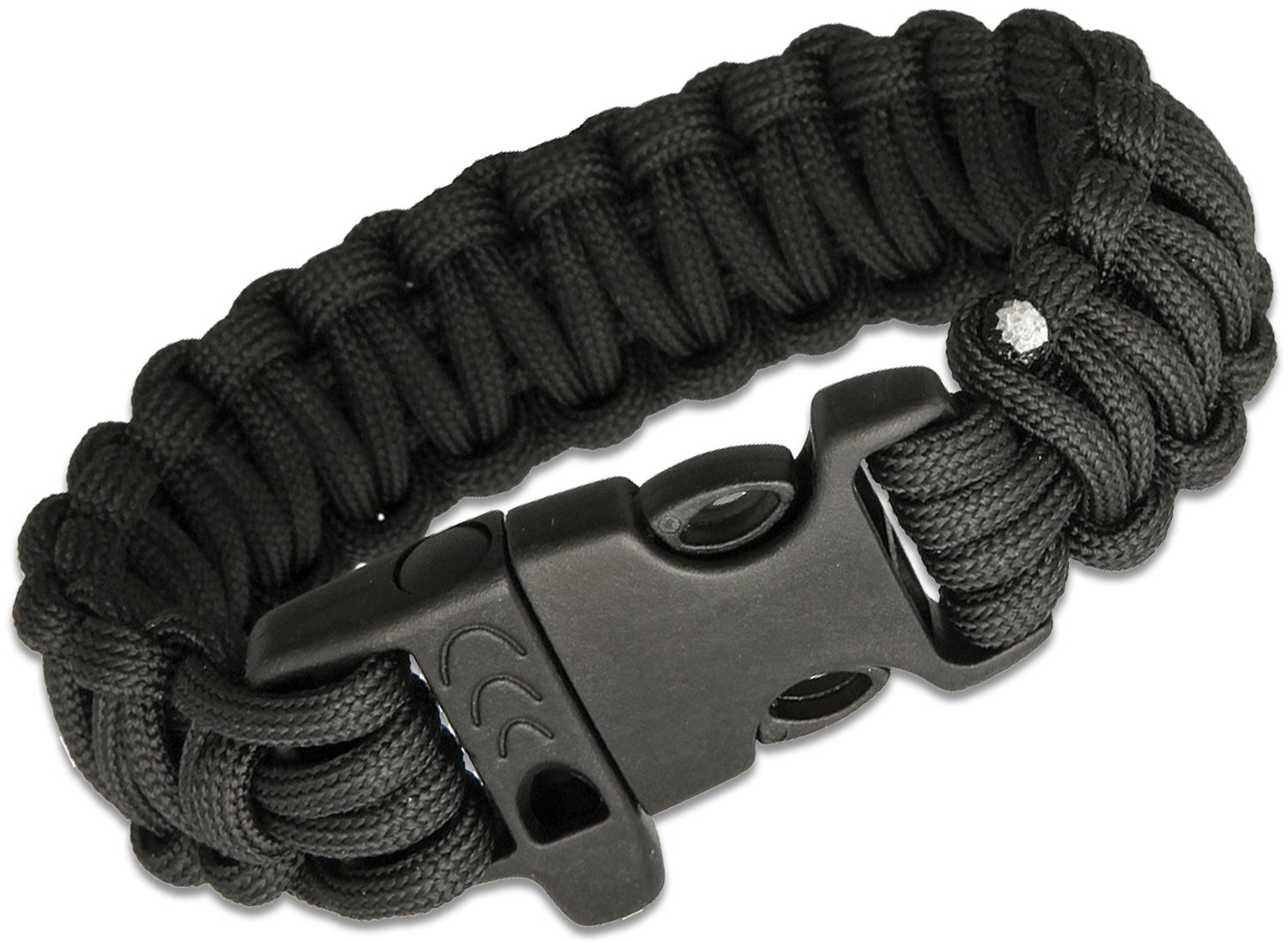 Combat Ready Paracord Survival Bracelet, Black