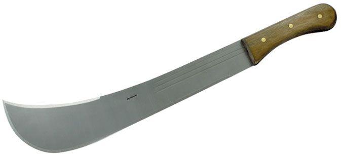 Condor Tool & Knife CTK2070SHC Swamp Master Machete 16 inch Blasted Satin Carbon Steel Blade, Walnut Handle, Leather Sheath