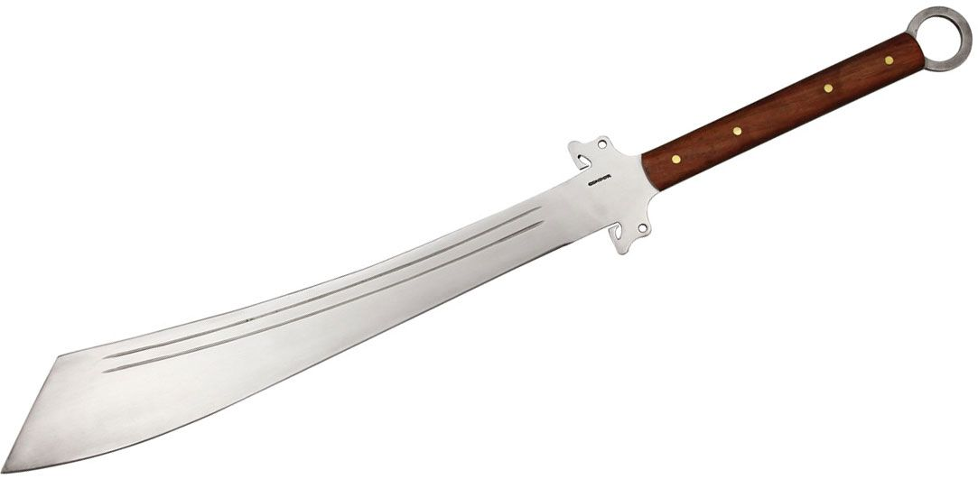 Condor Tool & Knife CTK358-19HC Dynasty Dadao Sword 21-1/4 inch Carbon Steel Blade, Hardwood Handles, Leather Sheath