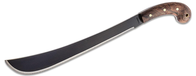 Condor Tool & Knife CTK410-14HCS Golok Machete 14 inch Black Carbon Steel Blade, Walnut Handles, Leather Sheath