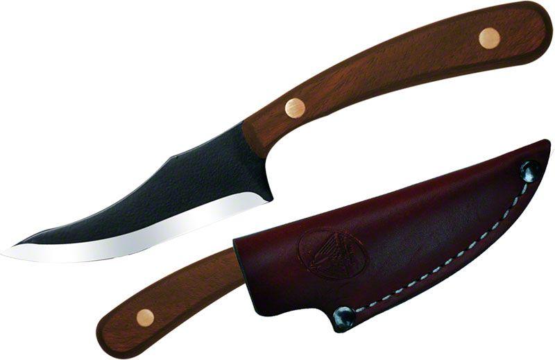 Condor Tool & Knife CTK7004-3.3 Game Surgeon 3-1/4 inch Black Stainless Steel Blade, Hardwood Handles, Leather Sheath
