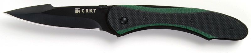 Columbia River Gallagher Badger Assisted 2.85 inch Plain Blade, G10 Handles