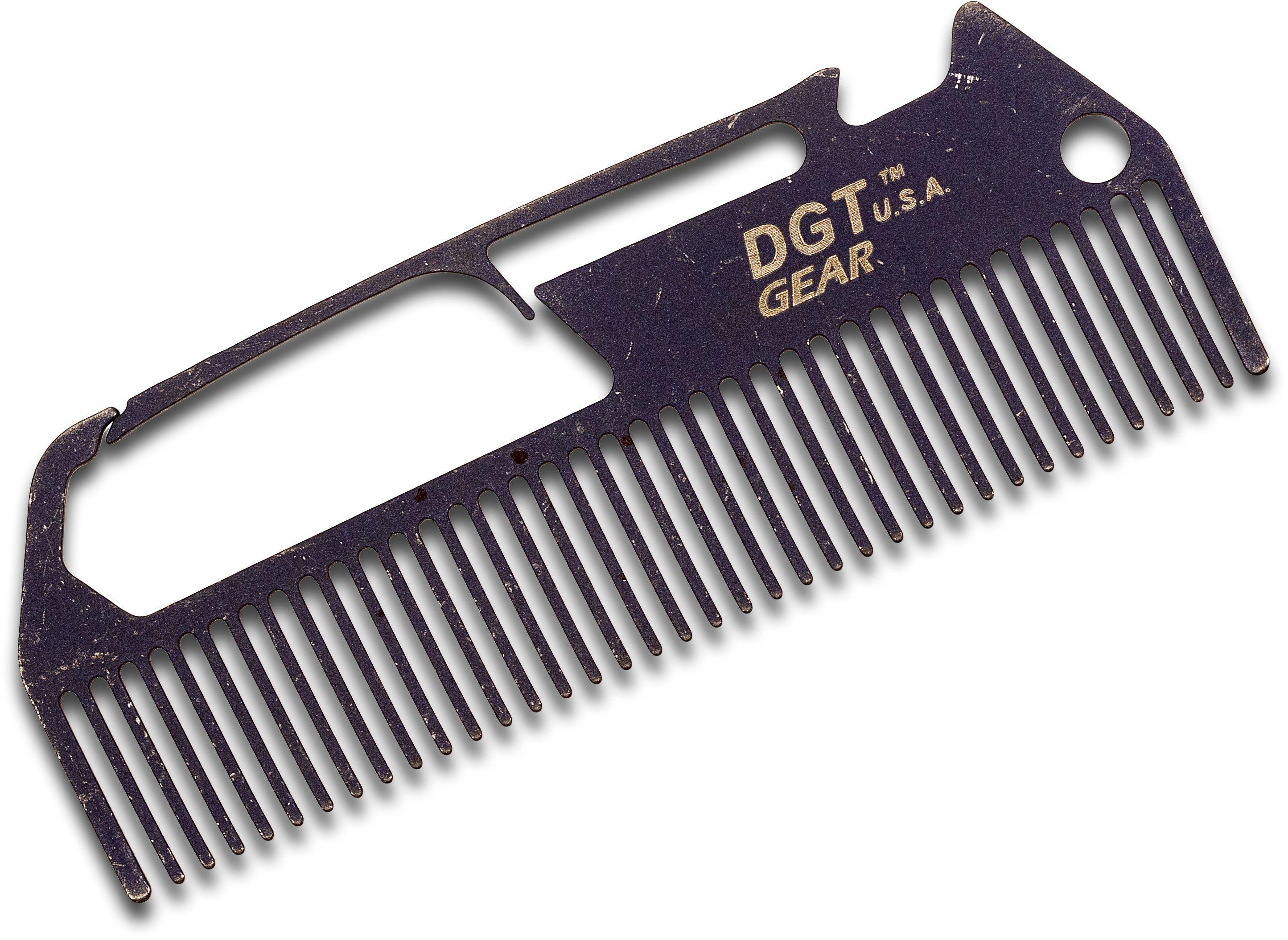 DGT Gear Titanium Comb-Biner One-Piece Multi-Tool, Battleworn