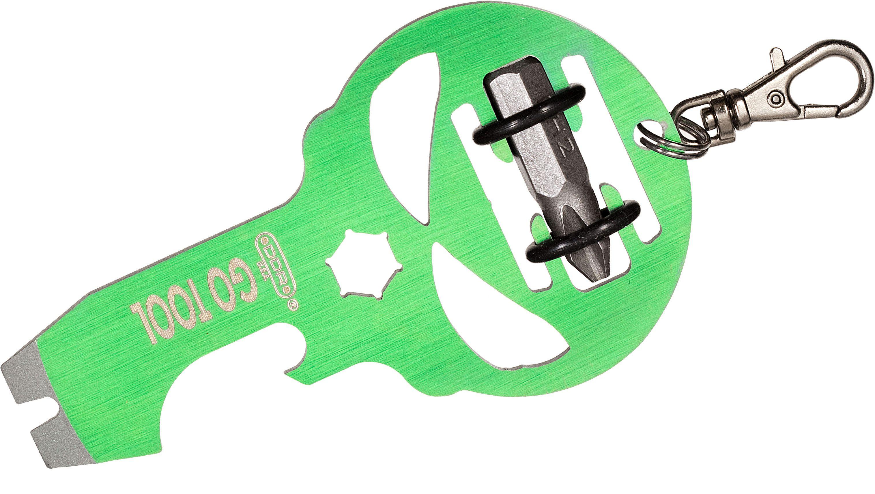 DGT Gear Titanium GO TOOL, Green Anodized