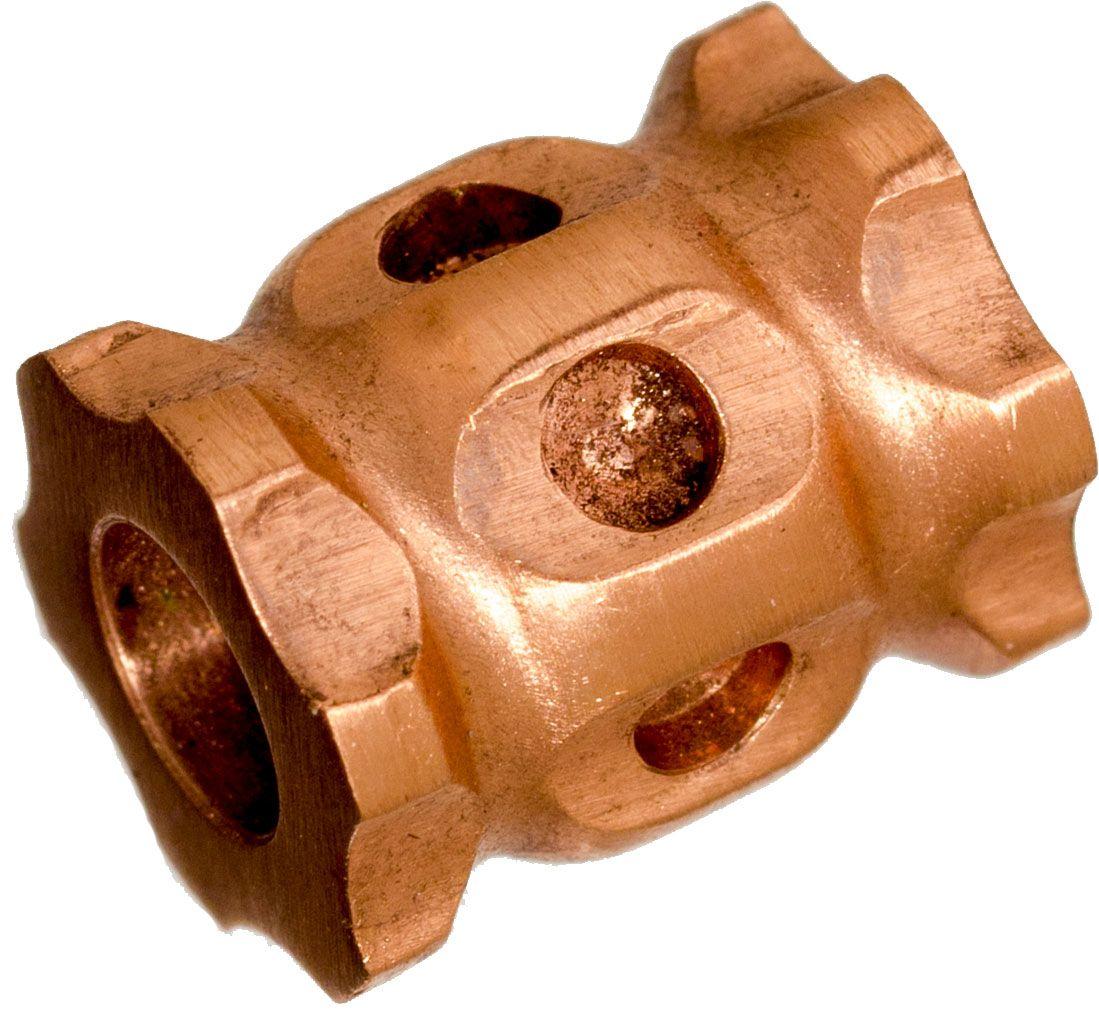 Darrel Ralph Designs Polished Copper L1 Lanyard Bead