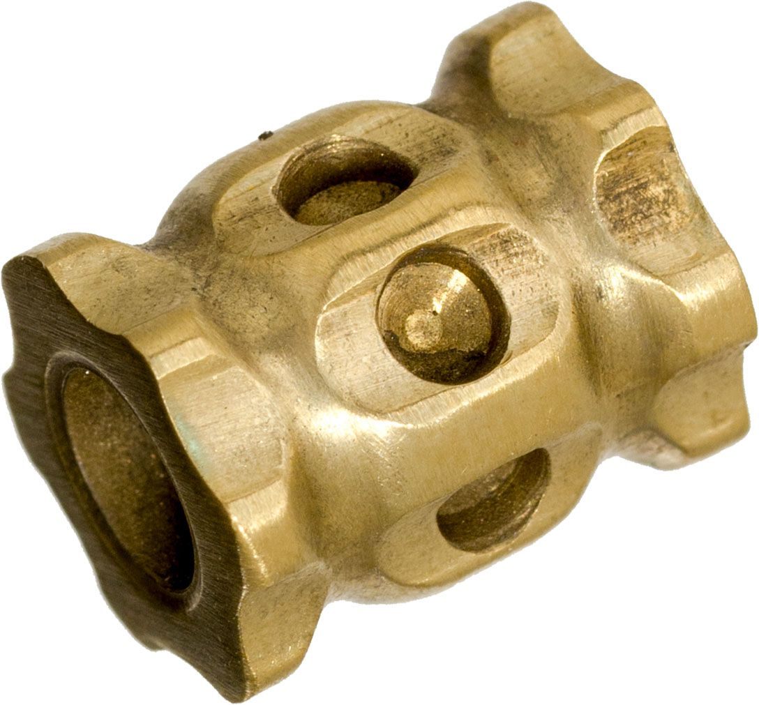 Darrel Ralph Designs Polished Brass L1 Lanyard Bead