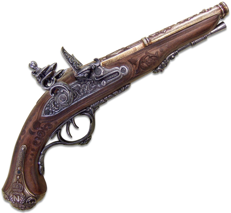 Denix Replica 1806 French Napoleon Pistol with Two Barrels