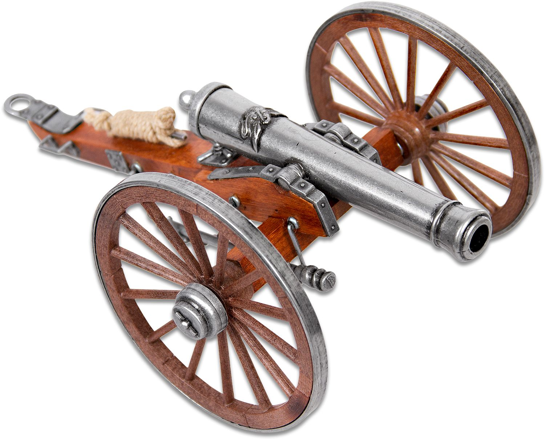Denix Miniature 1857 American Civil War  inchNapoleon inch Cannon, Metal and Wood