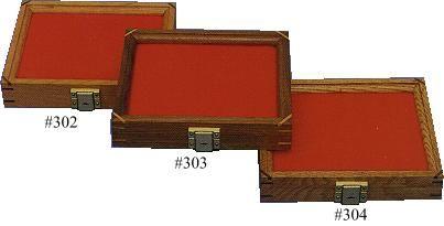 Oak Wood Display Case 7.5 inch x 9.5 inch x 1.875 inch