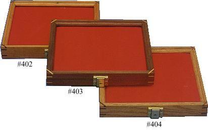 Walnut Wood Hinged Display Case 9.5 inch x 12 inch x 1.875 inch