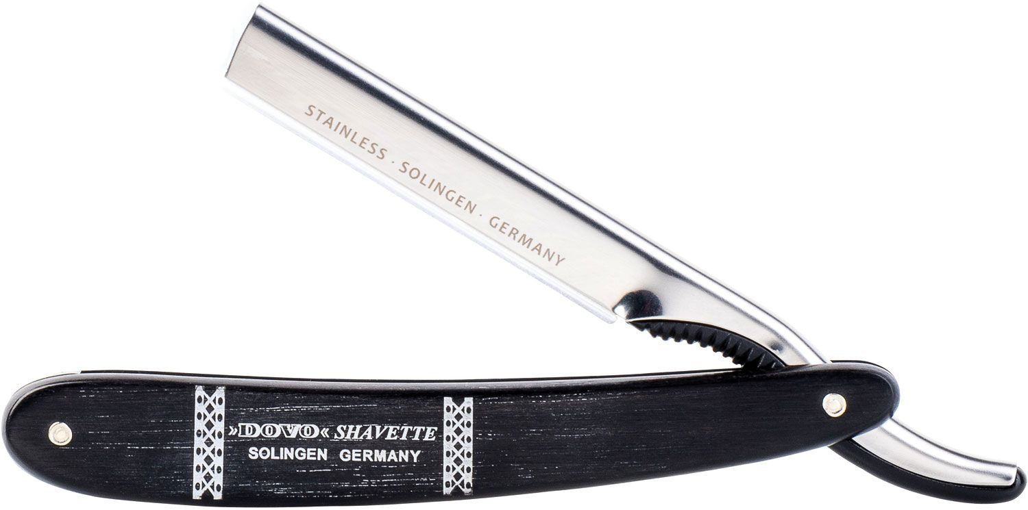 DOVO Shavette Replaceable Blade Straight Razor, Ebony Handles