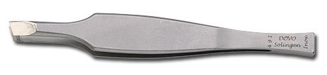 DOVO Slant Tip Stainless Tweezer from Germany Wide Grip 3.3 inch Length