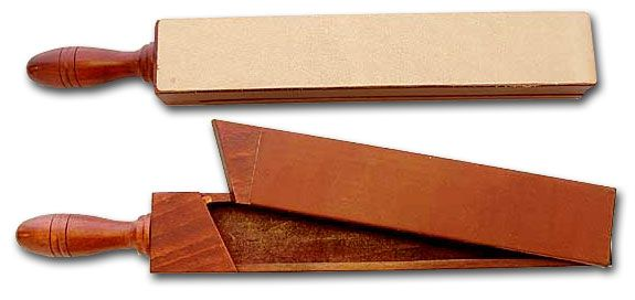 Thiers Issard Handmade Wooden Box With Razor Strop Leather on Both Sides