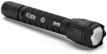 Elzetta C343Tactical Charlie Modular Flashlight w/ Flood Lens and High/Low Tailcap, 3 CR123A, 900 Max Lumens