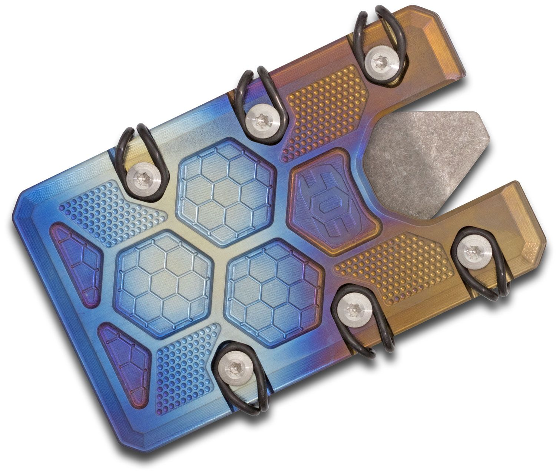 EOS Titanium 2.5 Wallet, Flamed