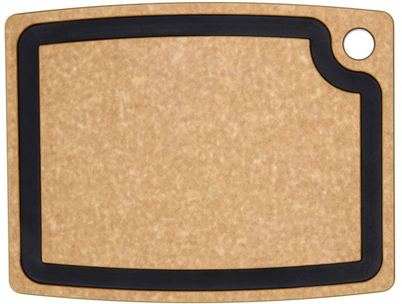 Epicurean Gourmet Series Wood Fiber Cutting Board, Natural/Slate, 14.5 inch x 11.25 inch