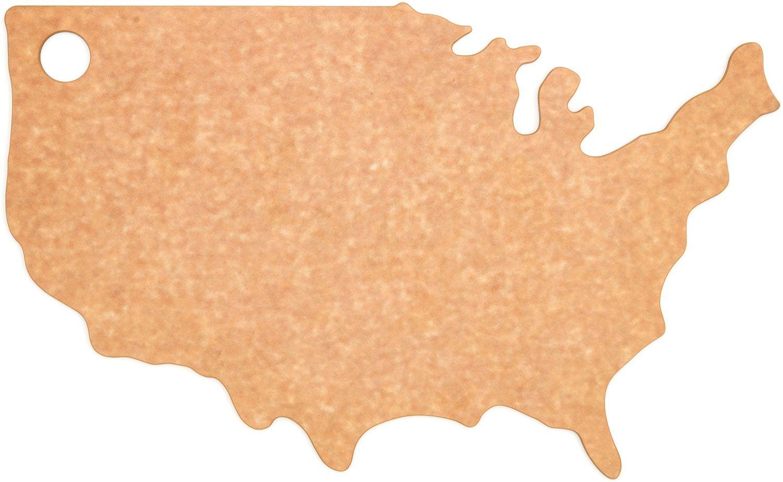 Epicurean Novelty Series Wood Fiber USA Cutting/Serving Board, Natural/Slate, 17.75 inch x 11 inch