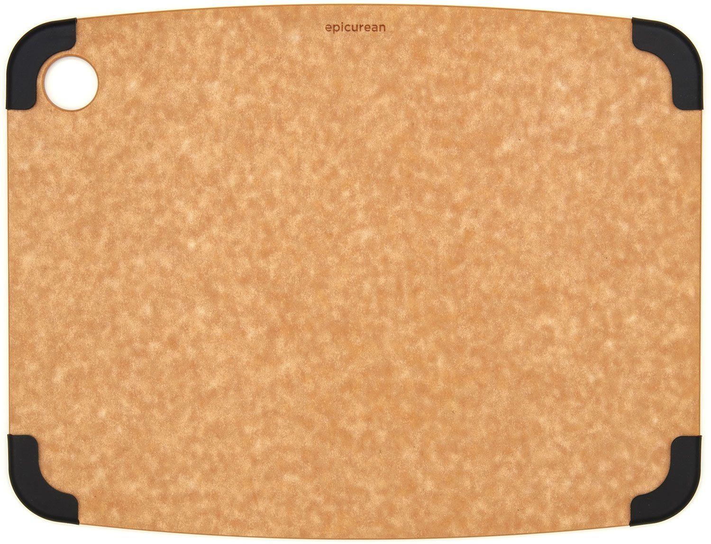Epicurean Non-Slip Series Wood Fiber Cutting Board, Natural/Slate Corners, 14.5 inch x 11.25 inch
