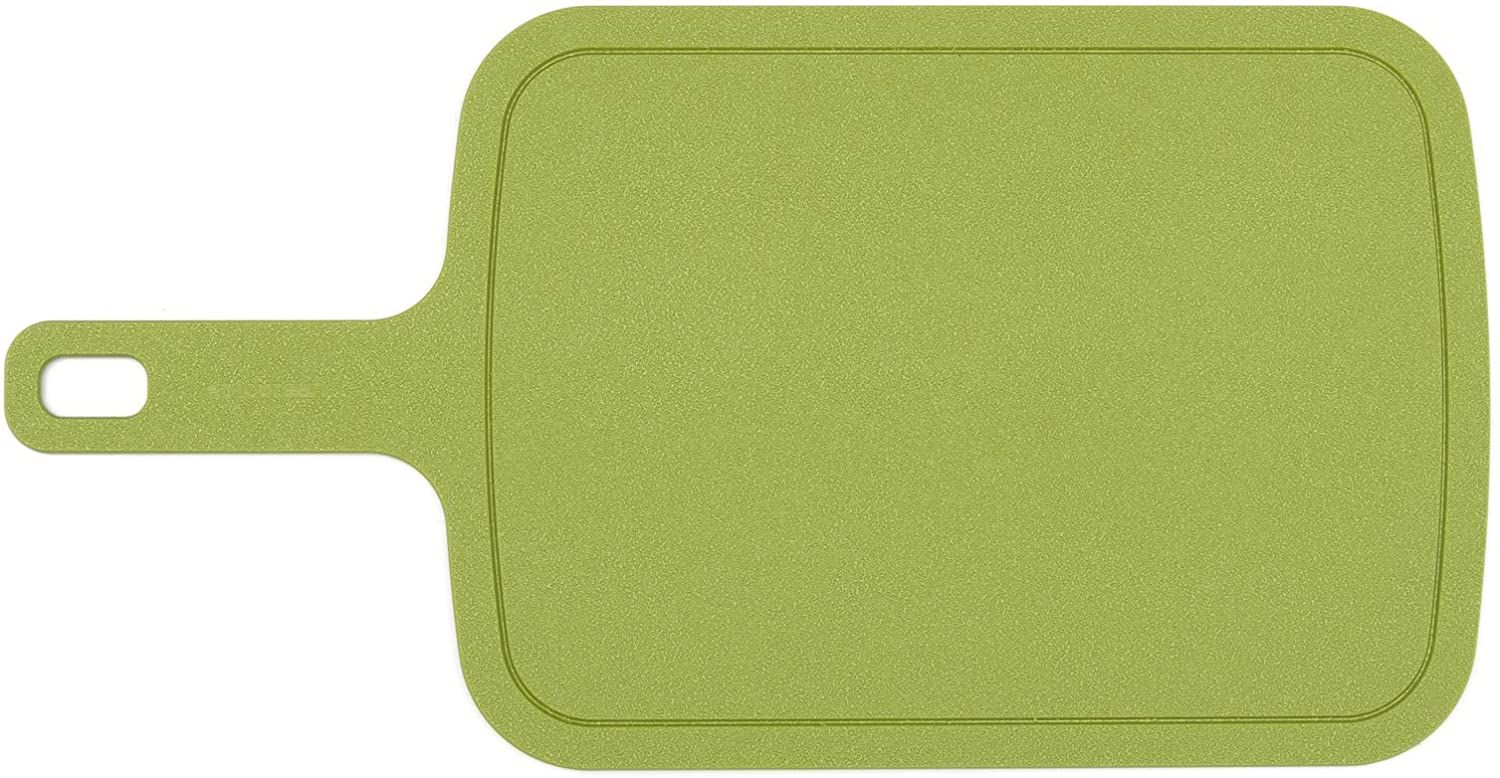 Epicurean Poly Board All-Purpose Cutting Board, Green, 15 inch x 8 inch with 5 inch Handle