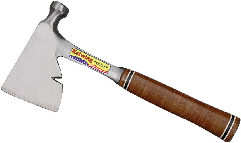 Estwing Carpenter's Hatchet 13 inch Overall, Leather Grip Handle (E2H)