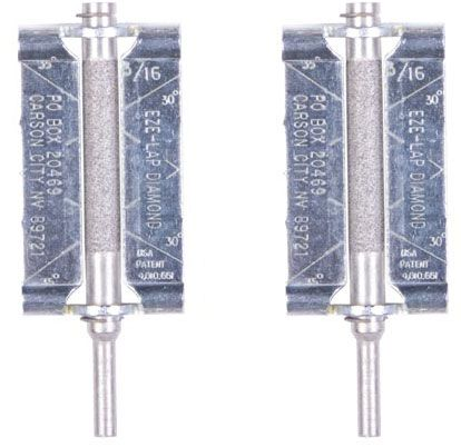EZE-LAP 2 Pack, 3/16 inch Chainsaw File with Precision Guide