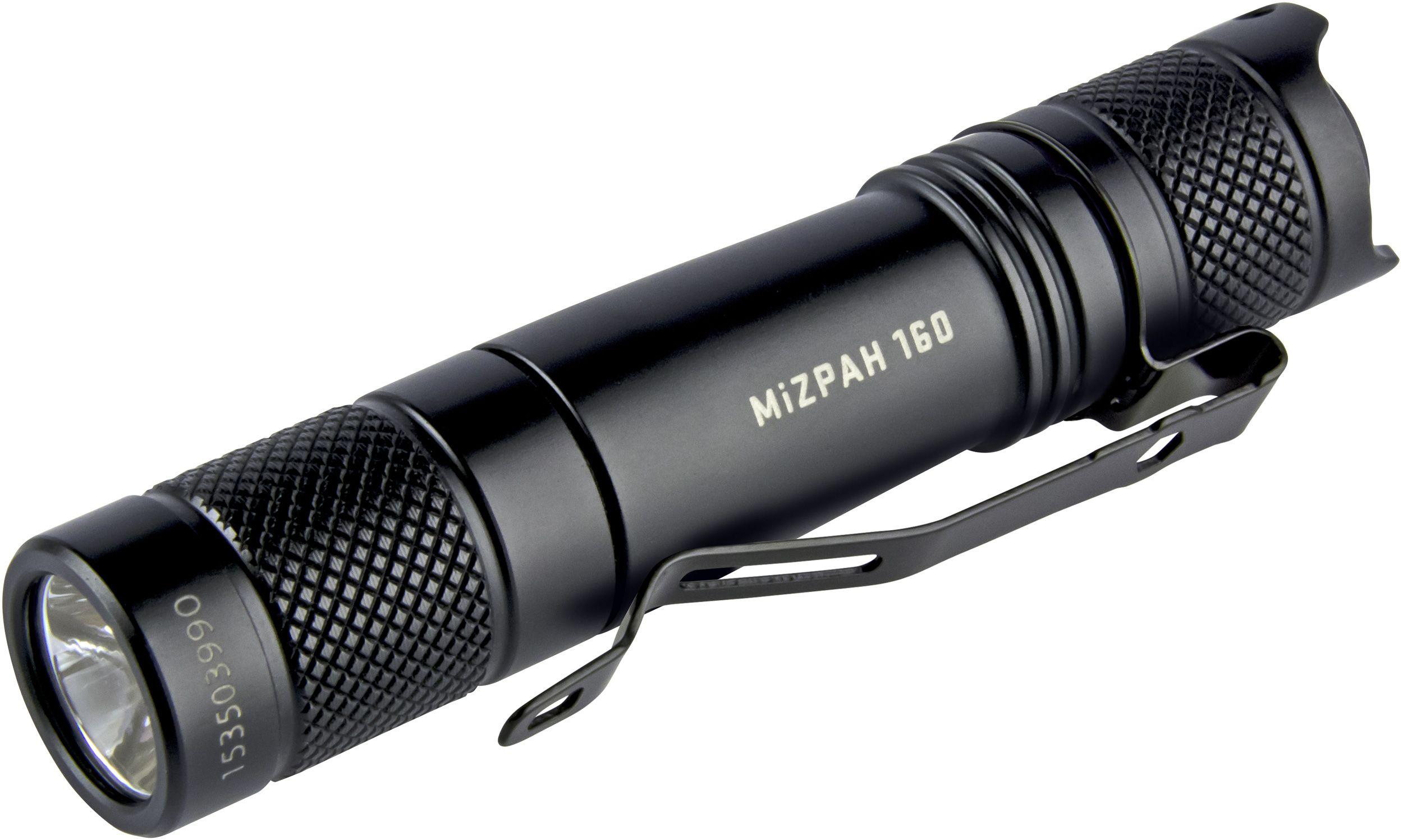 Factor Equipment FM002 MiZPAH 160 Compact LED Flashlight, Black, 160 Max Lumens