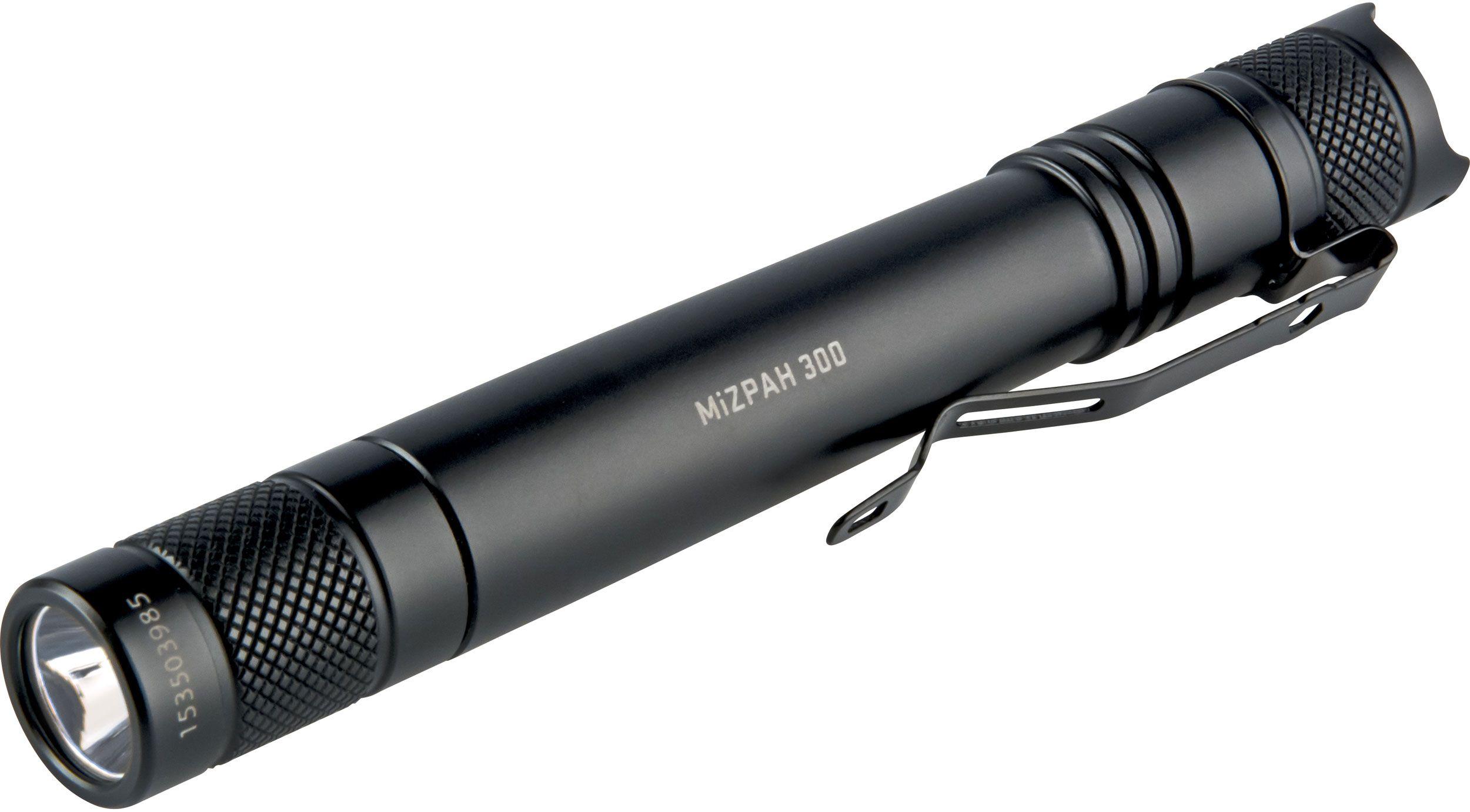 Factor Equipment FM004 MiZPAH 300 LED Flashlight, Black, 300 Max Lumens