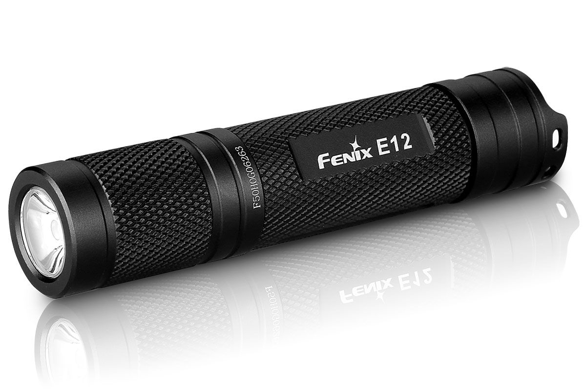 Fenix E12 LED Flashlight, Black, 130 Max Lumens