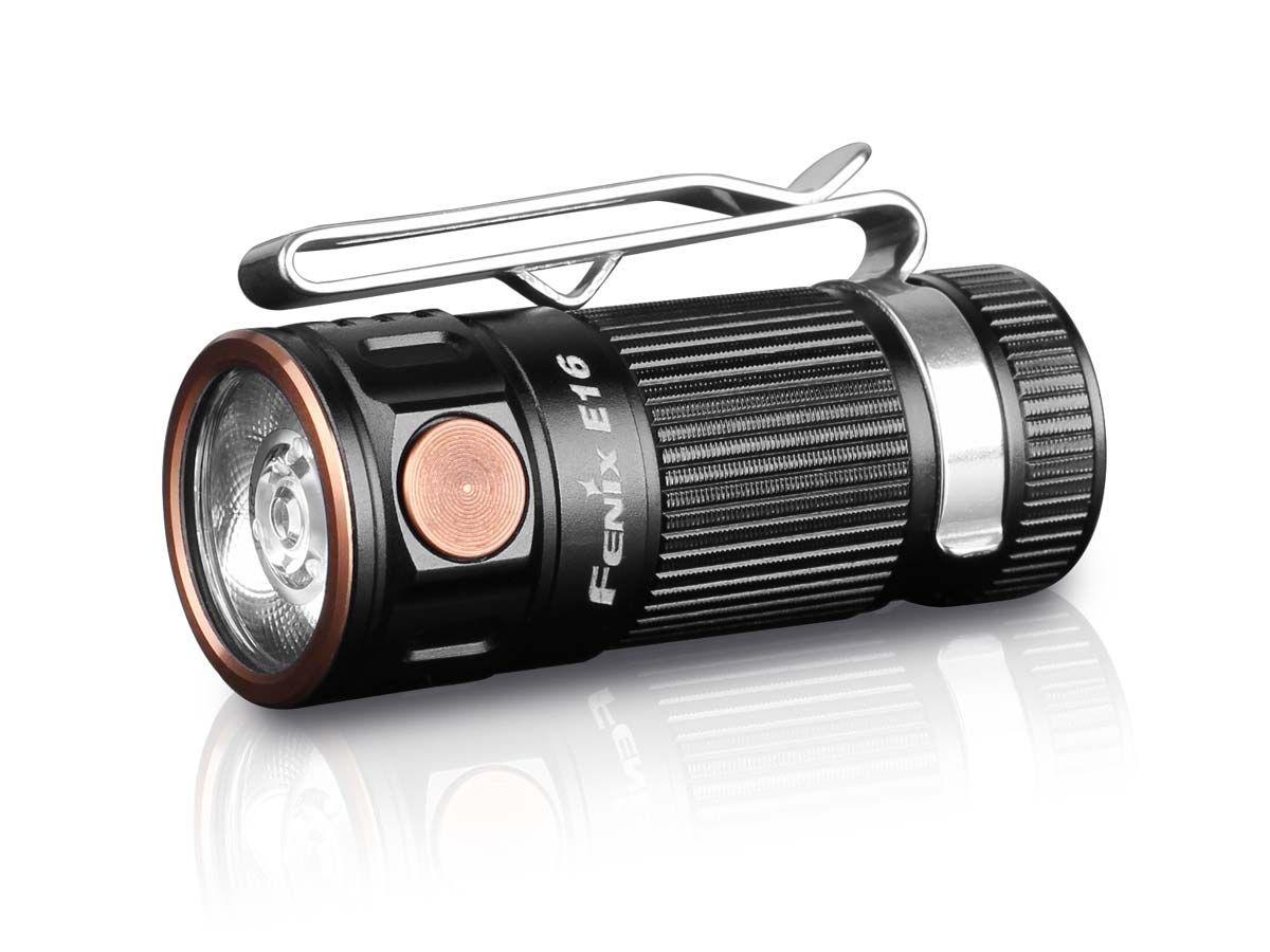 Fenix E16 EDC Compact LED Flashlight, Black, 700 Max Lumens