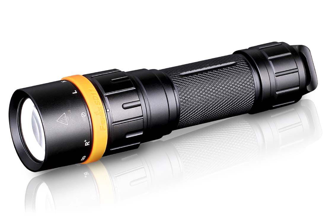 Fenix SD11 Diving LED Flashlight, Black, 1000 Max Lumens