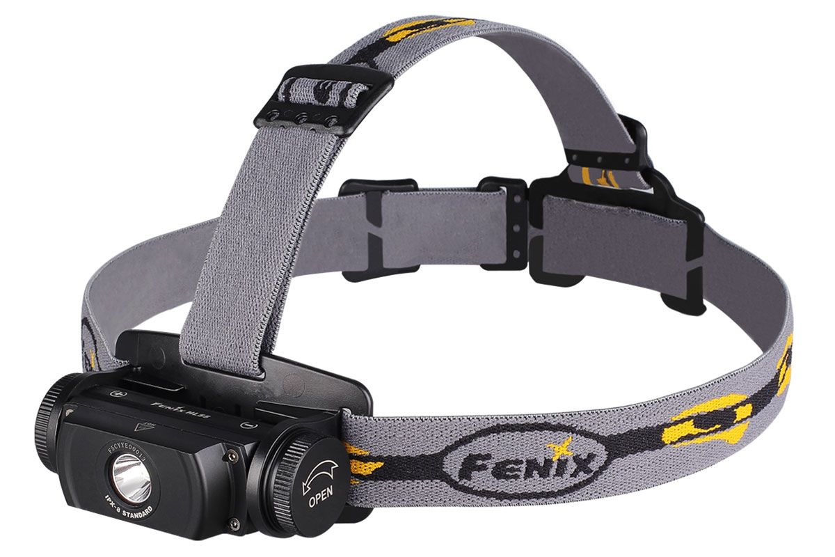 Fenix HL55 LED Headlamp, Black, 900 Max Lumens