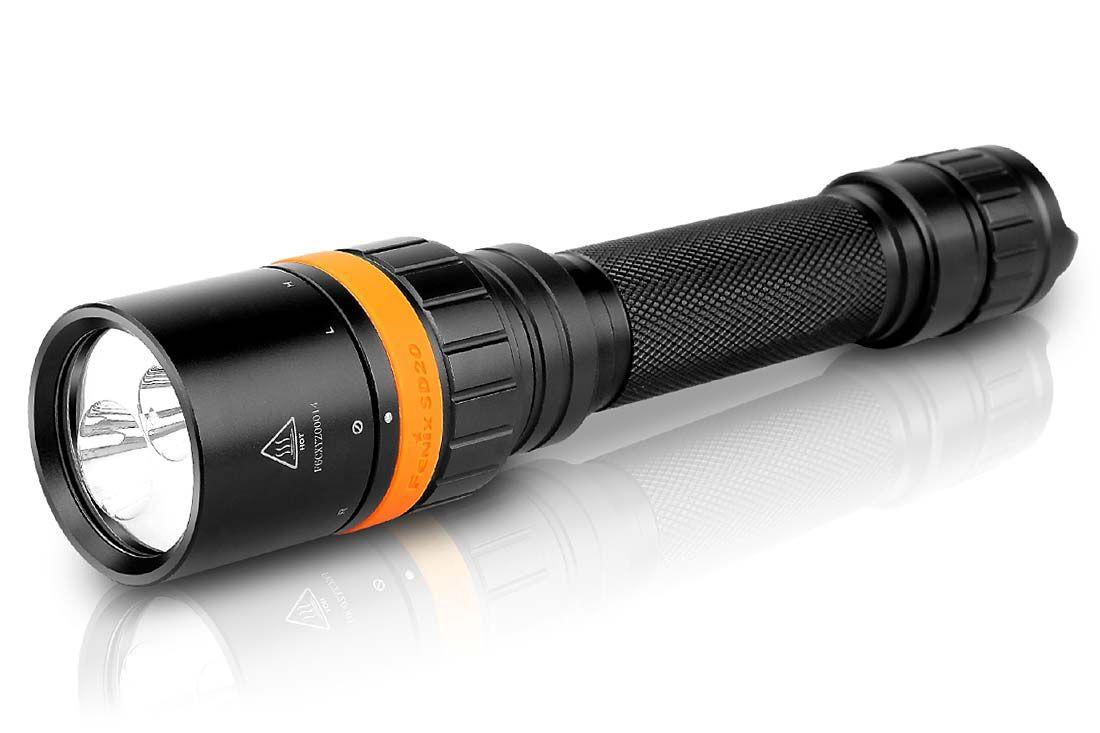 Fenix SD20 Diving LED Flashlight, Black, 1000 Max Lumens