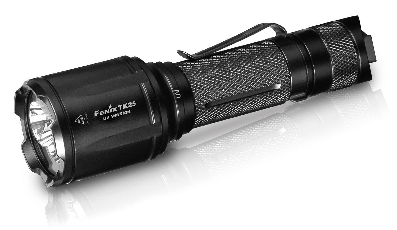 Fenix TK25 UV Tactical LED Flashlight, Black, 1000 Max Lumens