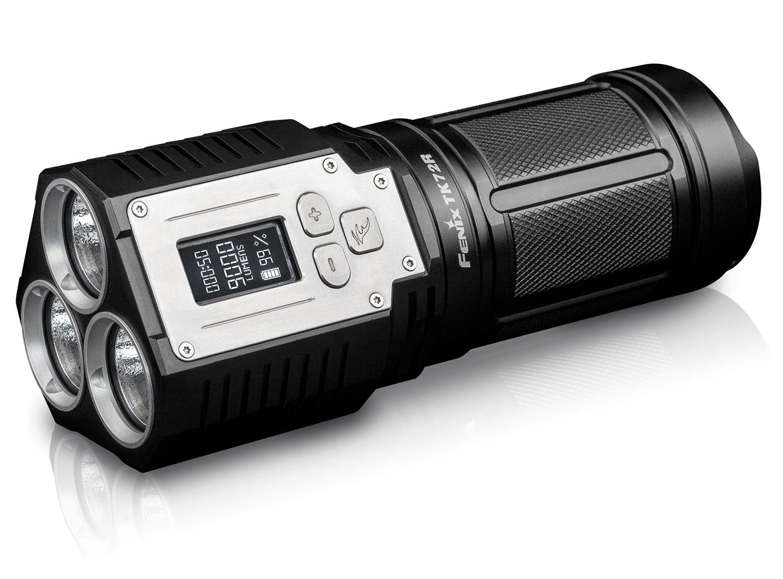 Fenix TK72R High-Intensity Rechargeable LED Flashlight, Black, 9000 Max Lumens