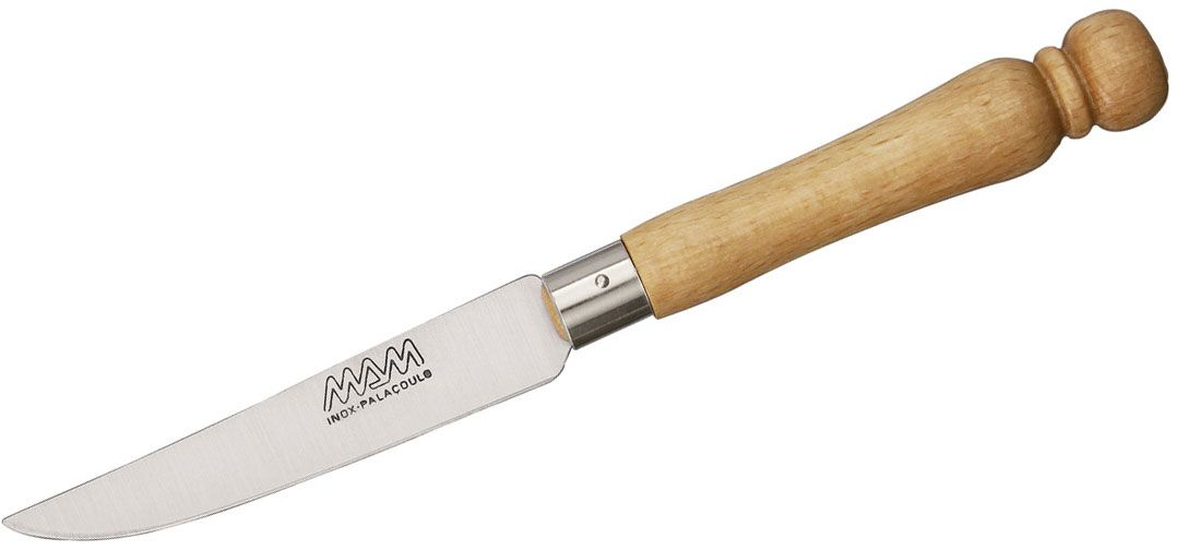 MAM Filmam 11 Kitchen Knife 3.5 inch Stainless Steel Paring Knife, Beech Wood Handle