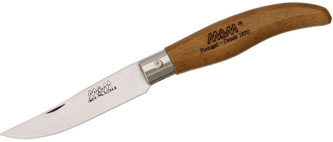 MAM Filmam 2010B Iberica's Liner Lock Folding Knife 2.95 inch Clip Point Blade, Beechwood Handle