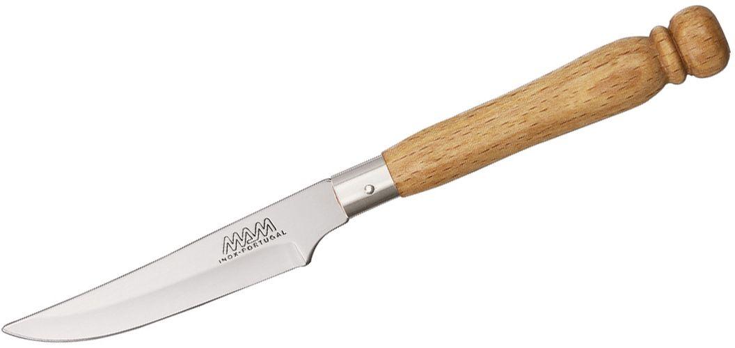 MAM Filmam 91 3 inch Stainless Steel Dessert Knife, Beech Wood Handle