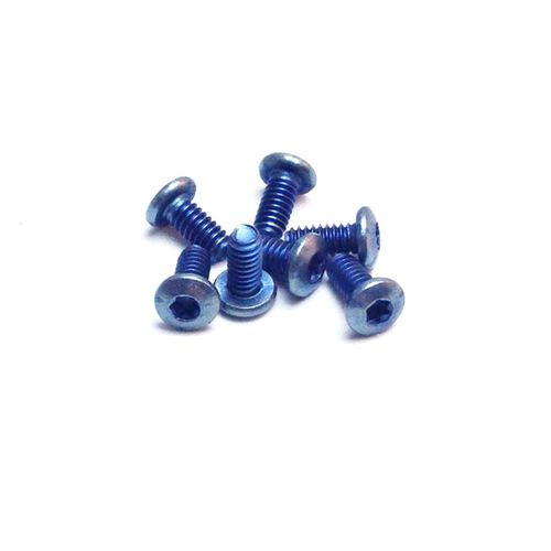 Flytanium Set of 7 Blue Titanium Body Screws for Benchmade 51, 6X and 32 - Knife Not Included