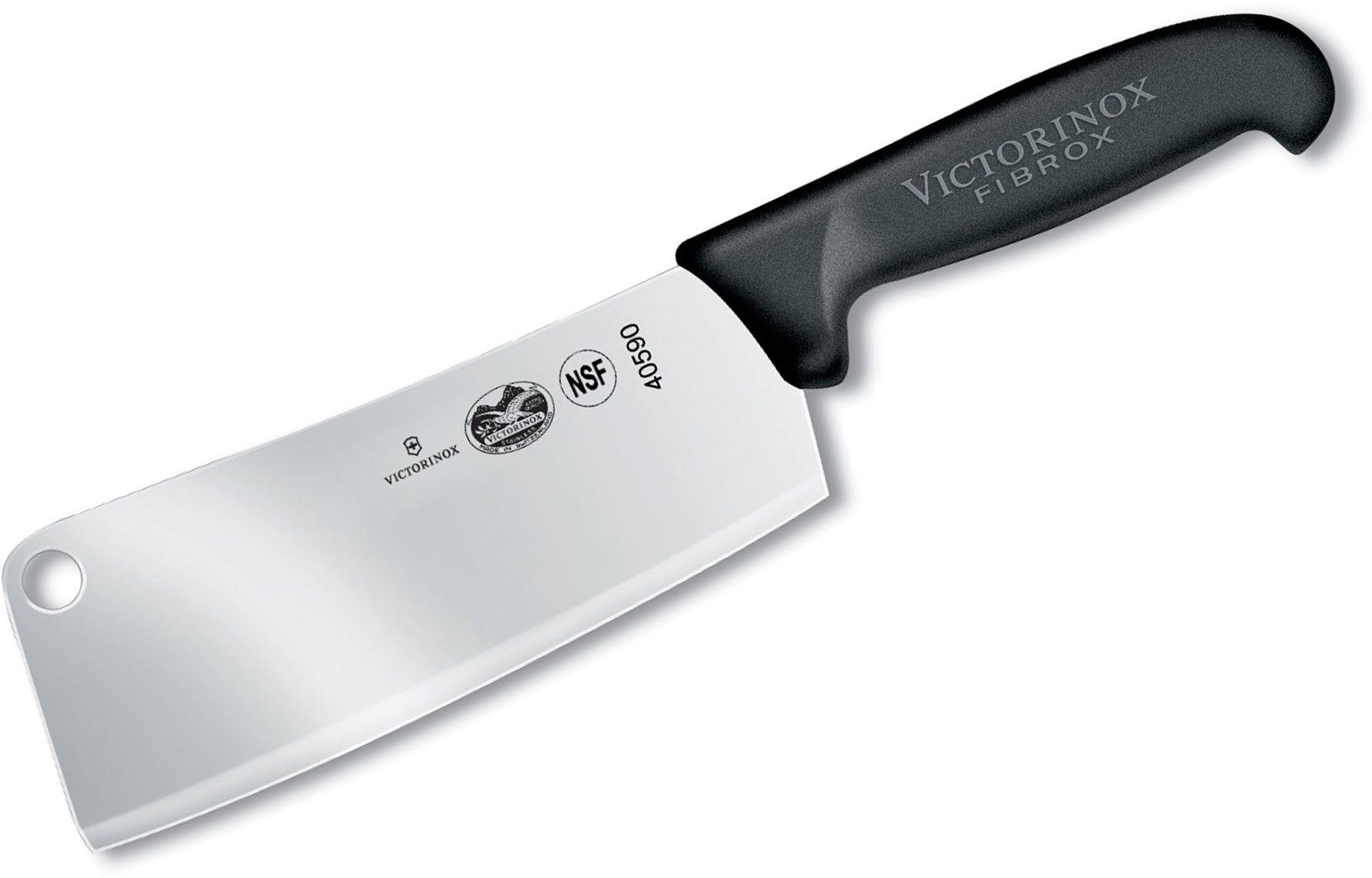 Victorinox Forschner Fibrox 7 inch Cleaver, Black TPE Handle