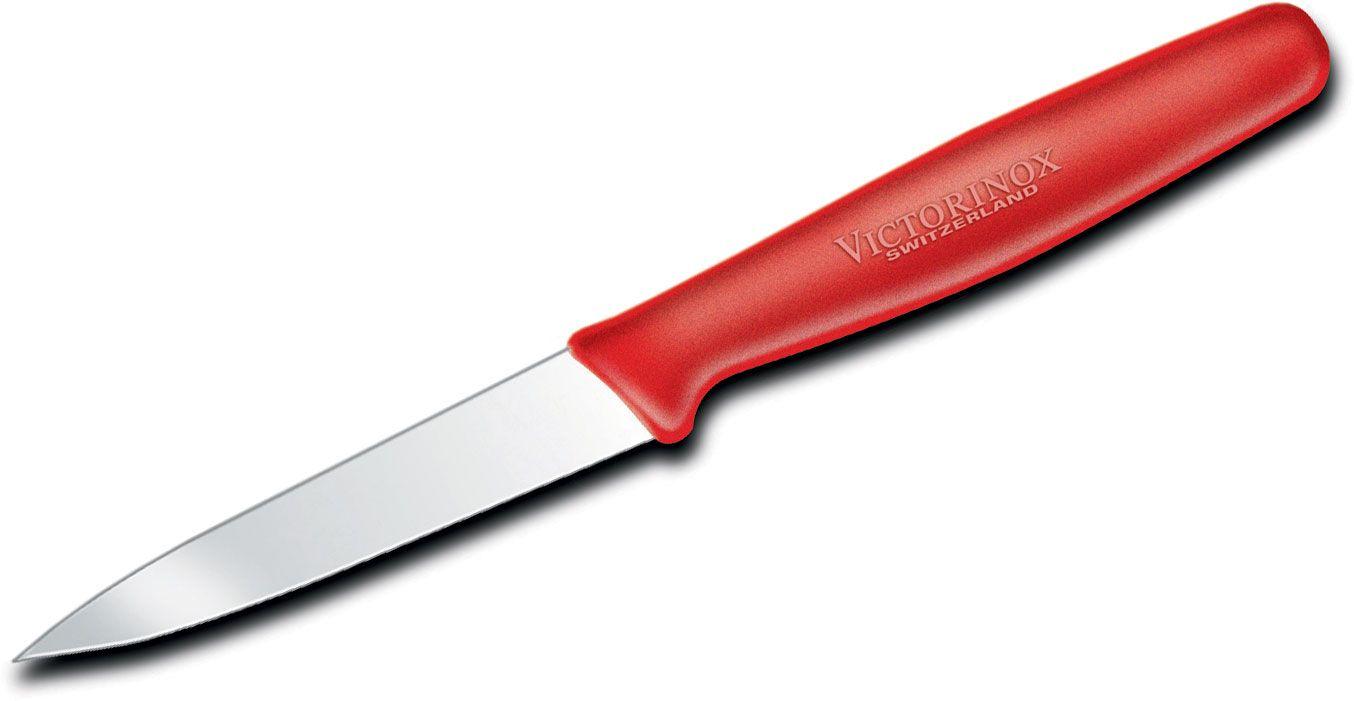 Victorinox Forschner Standard 3.25 inch Paring Knife, Red Polypropylene Handle