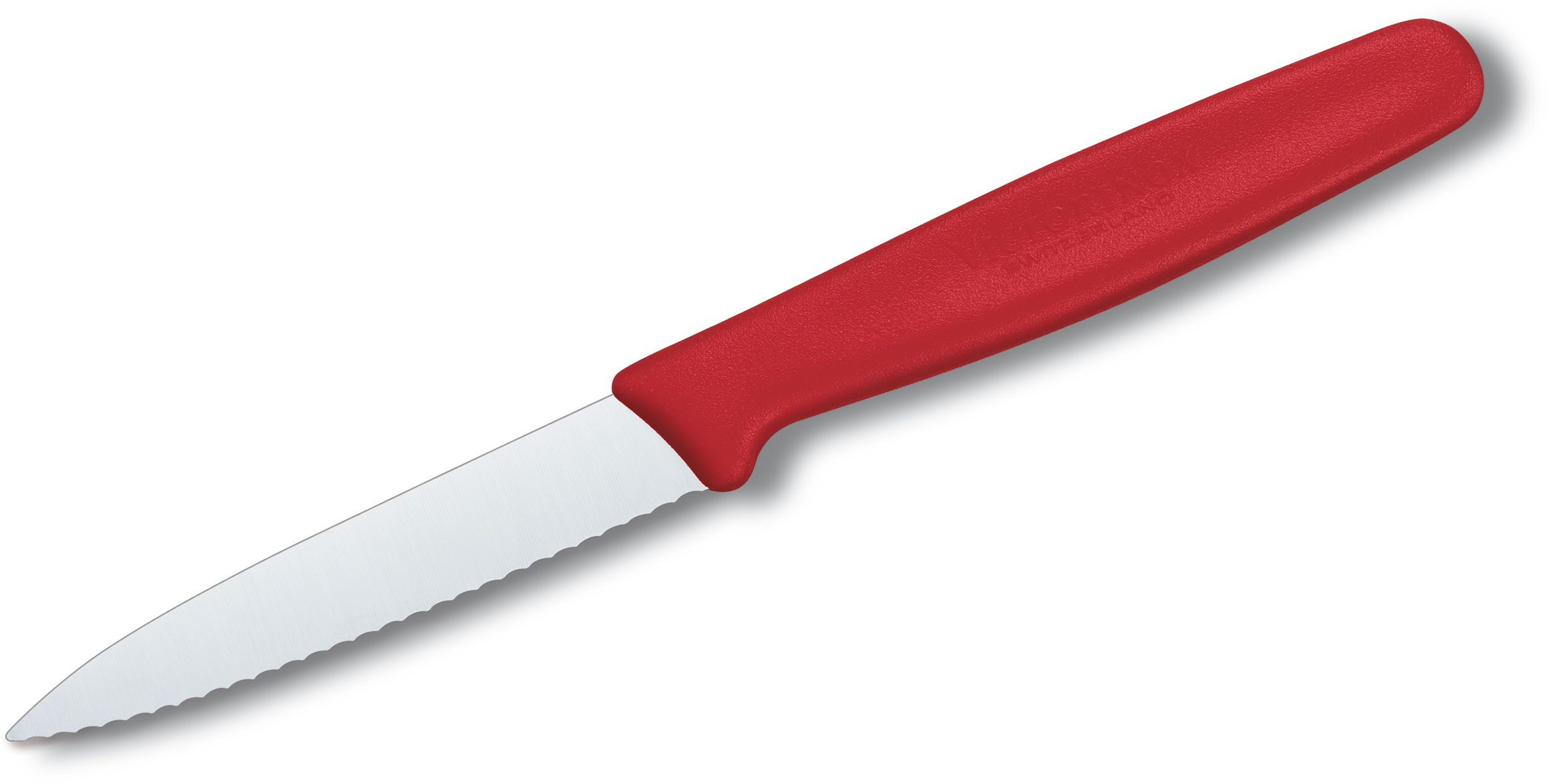 Victorinox Forschner Standard 3.25 inch Serrated Paring Knife, Red Polypropylene Handle