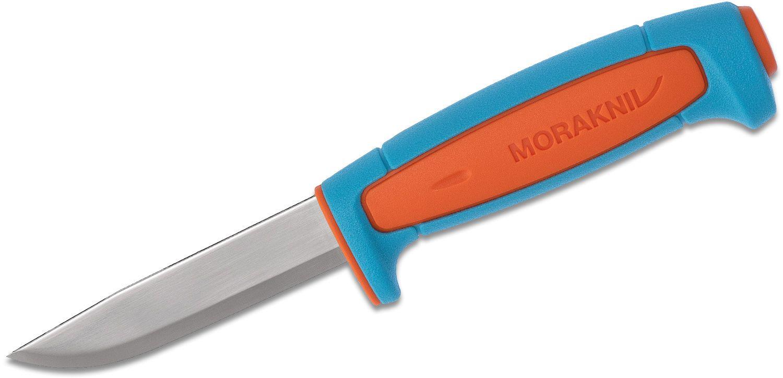 Morakniv Mora of Sweden Basic 511 3.5 inch Carbon Steel Blade, Blue/Orange Polymer Handle