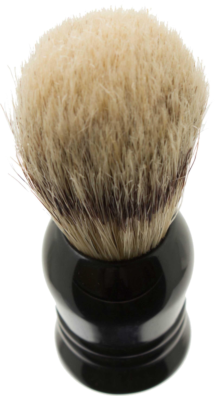 Garos Goods Boar's Hair Shaving Brush, Black, Ideal for Beginners