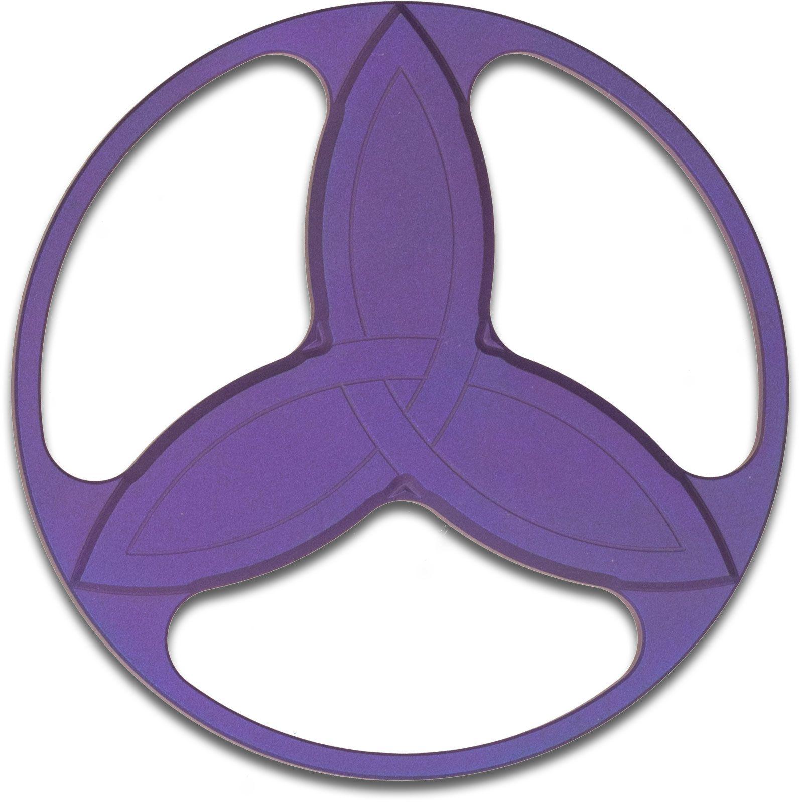 Eric Garza/Tuff-Writer Custom Purple Titanium Triquetra Spinner