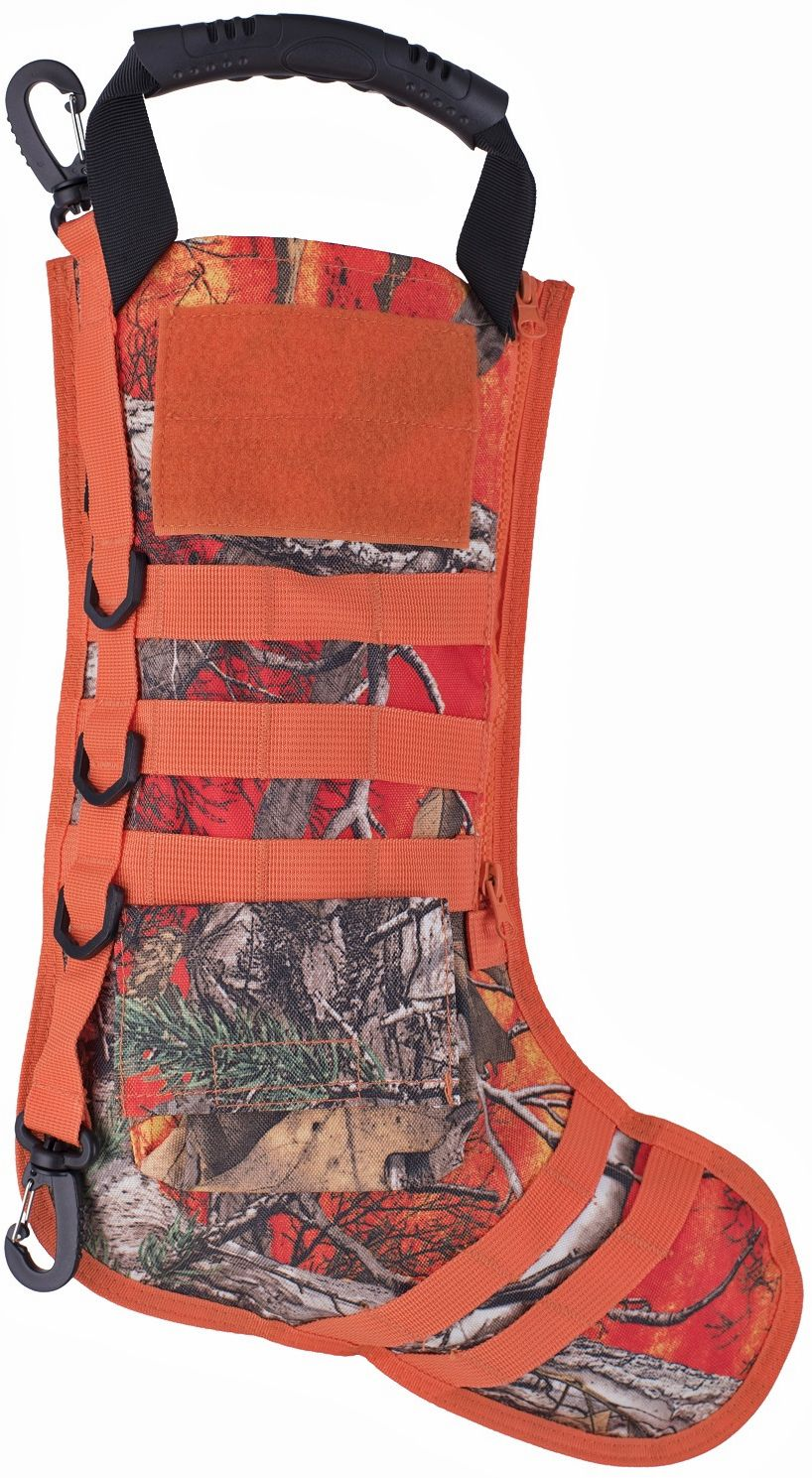 GenPro RuckUp Blaze Orange Camo Tactical Christmas Stocking with MOLLE Attachment