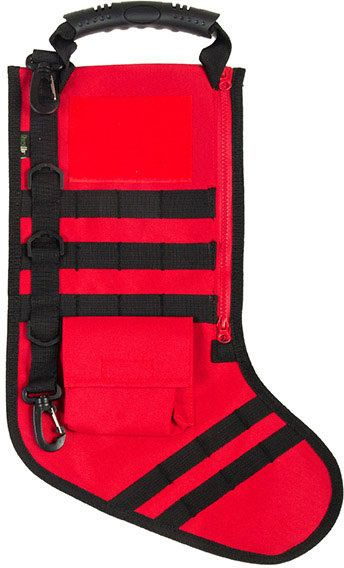 GenPro RuckUp Christmas Red Tactical Christmas Stocking with MOLLE Attachment