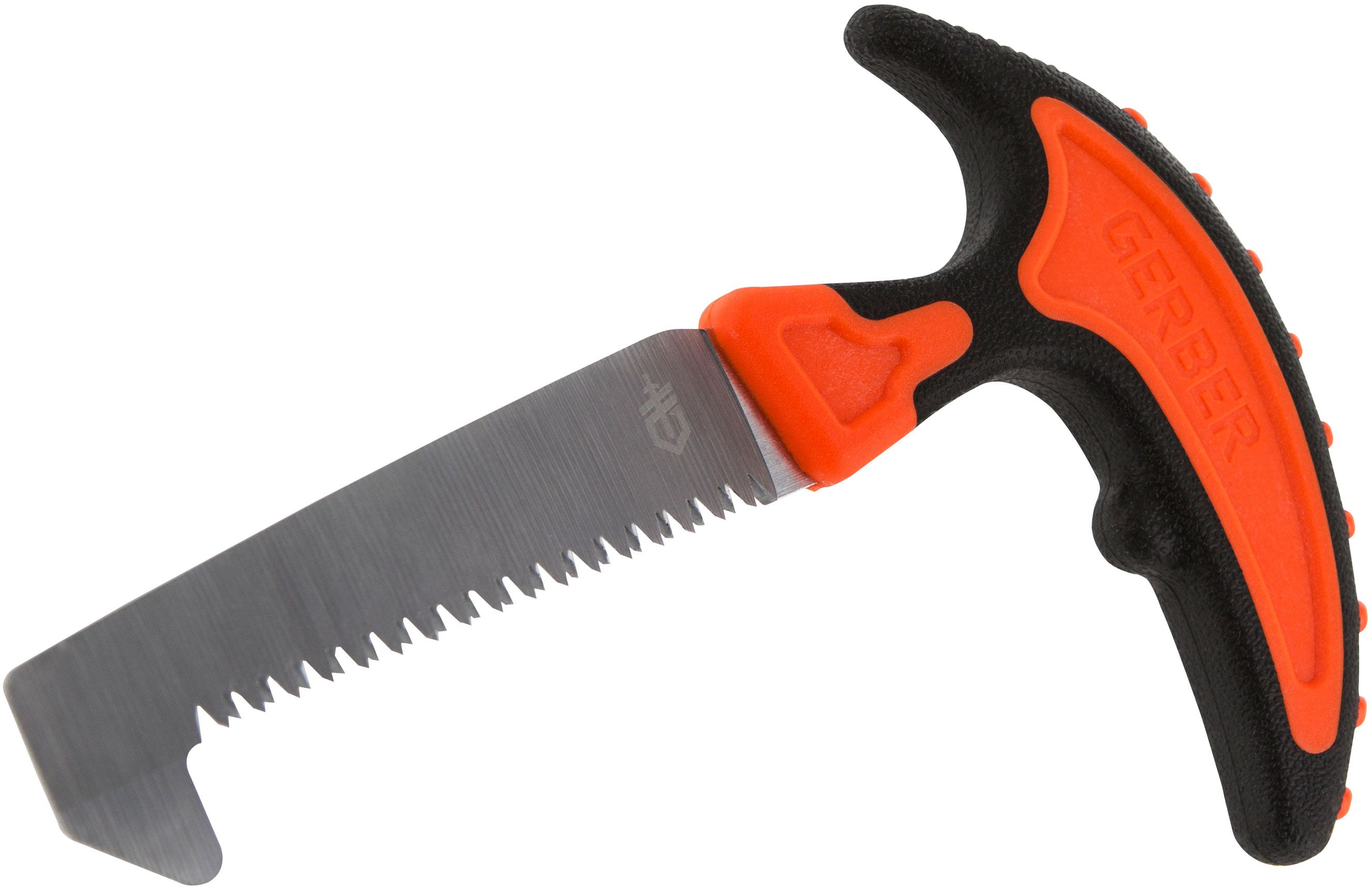 Gerber Vital Pack Saw 3.6 inch SK5 Carbon Blade, Orange Rubberized Handle
