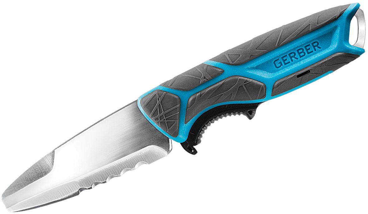 Gerber Fishing Series CrossRiver Salt Rx Fixed Blade Knife 3 inch Blunt Tip Combo, Polypropylene Handle, Plastic Sheath