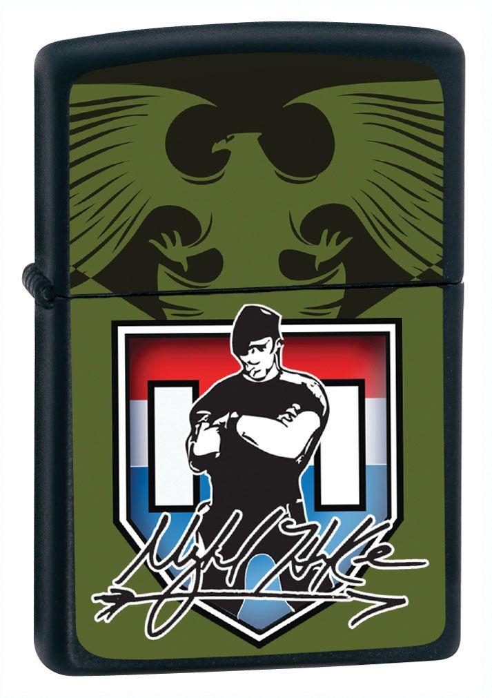 Mykel Hawke Zippo Lighter - Black/Olive