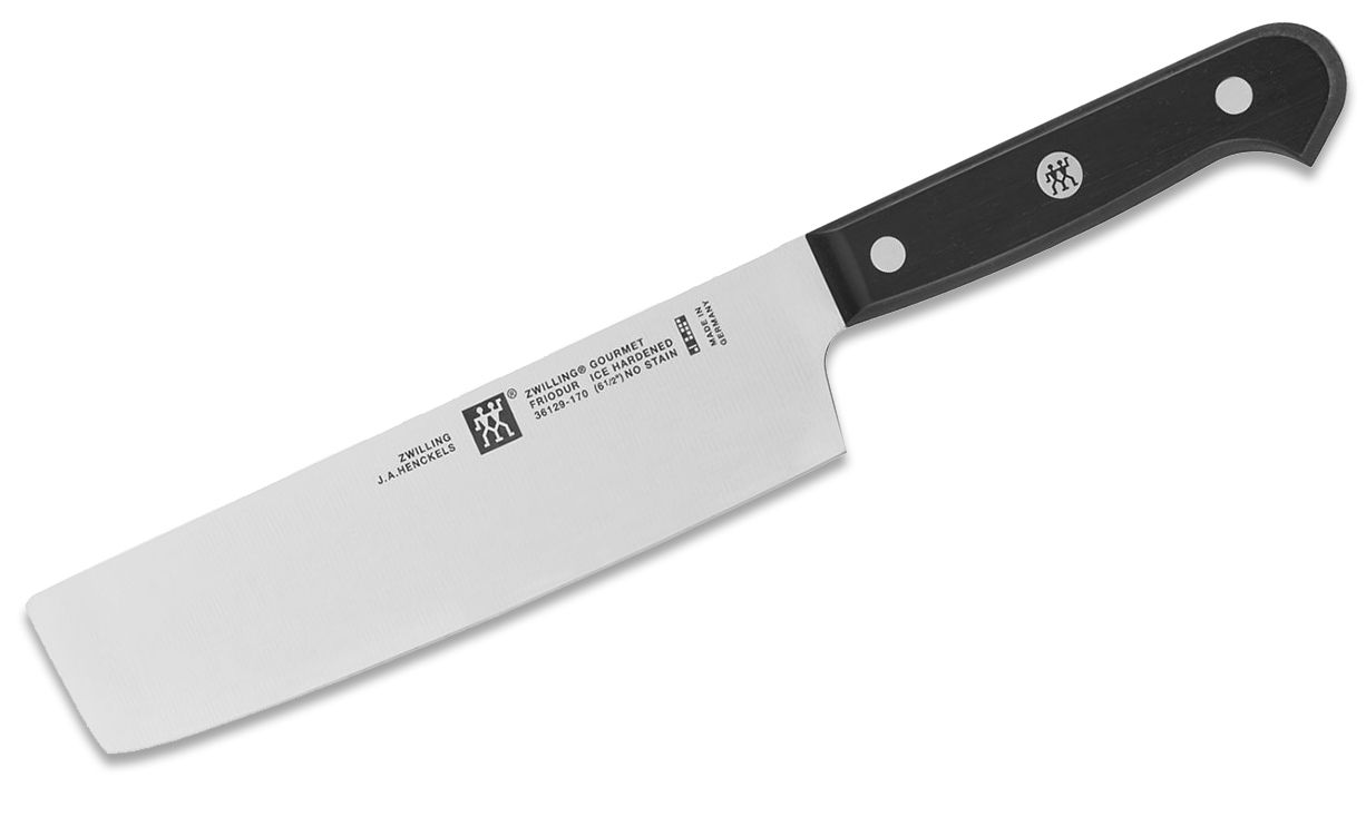 Zwilling J.A. Henckels Gourmet 6.5 inch Nakiri Knife, Black POM Handles